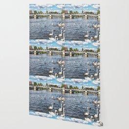 Windsor Town Bridge Wallpaper