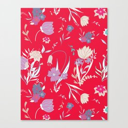 Petite Summe Red Canvas Print