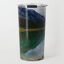 Reflections in Medicine Lake in Jasper National Park, Canada Travel Mug
