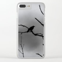 Solitary Crow Clear iPhone Case