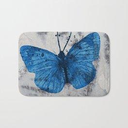Blue Butterfly Tiger Eye Bath Mat