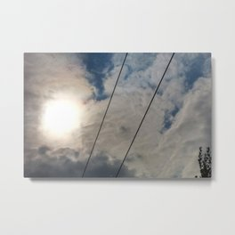 clouds and wire, abstract, no.02 Metal Print