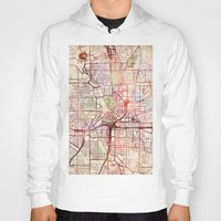 atlanta Hoodies featuring Atlanta by MapMapMaps.Watercolors