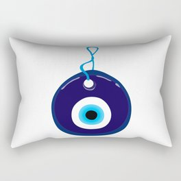 Turkish Blue Eye Bead Rectangular Pillow