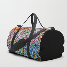 Logo on Sequins Duffle Bag