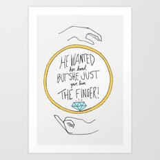 Ring Finger Art Print