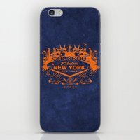 sin city iPhone & iPod Skins featuring Sin City (Orange/Blue) by Gusto NYC