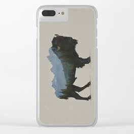 Grand Teton Bison Clear iPhone Case
