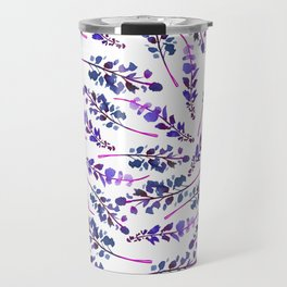 Watercolor lavender purple lilac violet floral Travel Mug