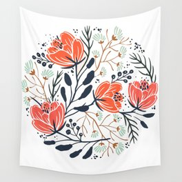 Lovely Flowers Wall Tapestry