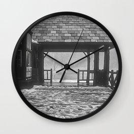 Verona Boathouse Winter Season Wall Clock
