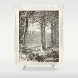 Forest Scene Shower Curtain