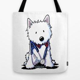 KiniArt Westie Love Doctor Tote Bag