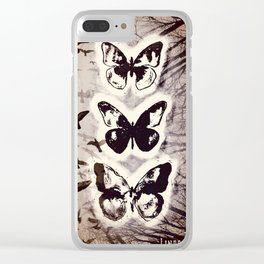 Butterfly Abstracted Clear iPhone Case