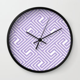 Abstract modern geometrical ultraviolet white key pattern Wall Clock