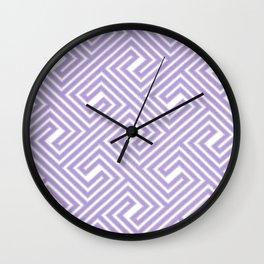 Abstract modern geometrical ultraviolet white key pattern Wall Clock