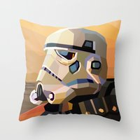 sand Throw Pillows featuring Sand by Liam Brazier