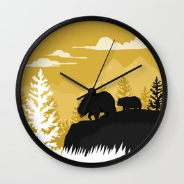 Bear Valley Wall Clock