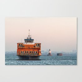 Lighthouse & Staten Island Ferry Canvas Print