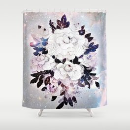 flowers in the stars Shower Curtain