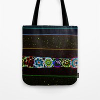 starry night Tote Bags featuring Starry Starry Night by Lior Blum