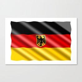 Waving Germany flag Canvas Print