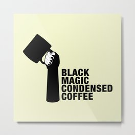 Black coffee Metal Print
