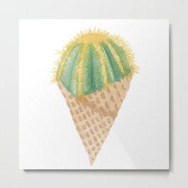 Cactus Scoop Metal Print