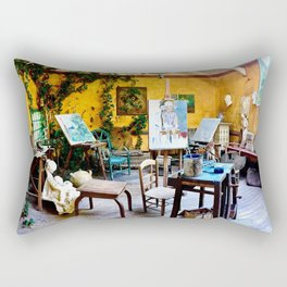 The Artist's Studio Rectangular Pillow