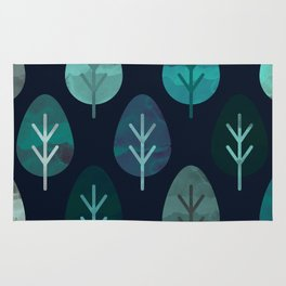 Watercolor Forest Pattern #7 Rug