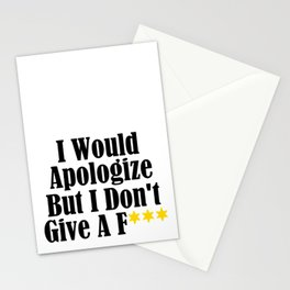 Funny Whatever Apologize Don't Care Give A Crap Meme Stationery Cards