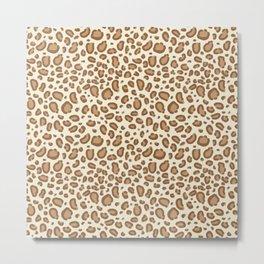 Leopard spots animal pattern print minimal basic home decor safari animals Metal Print