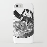 planes iPhone & iPod Cases featuring paper planes by Rzuud