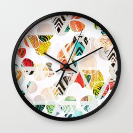 Summer In The City Of Big Dreams #graphicdesign Wall Clock