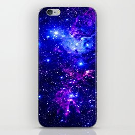 Fox Fur Nebula Galaxy blue purple iPhone Skin