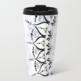'If You Can't Control it Let it Go' Quote Mandala Marble Travel Mug