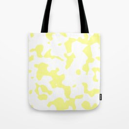 Large Spots - White and Pastel Yellow Tote Bag