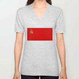 USSR Flag - Soviet Union Flag Unisex V-Neck
