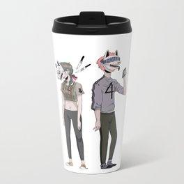 f o u r Metal Travel Mug