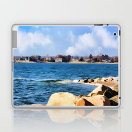 New England Shoreline - Painterly Laptop & iPad Skin