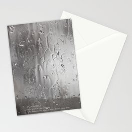 the rain, the pain Stationery Cards