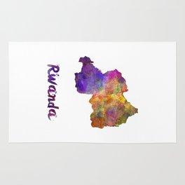 Rwanda in watercolor Rug