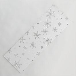 Twinkle Snowflake -Silver Grey & White- Yoga Mat