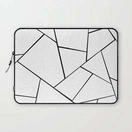 Black White Geometric Glam #1 #geo #decor #art #society6 Laptop Sleeve