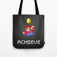 mario Tote Bags featuring Mario by eARTh