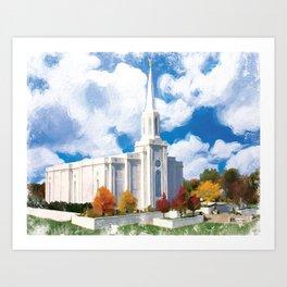 St. Louis Missouri LDS Temple Art Print