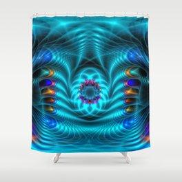 DA FS Neuroelectricyti ONFXV1 Shower Curtain