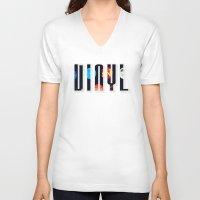 vinyl V-neck T-shirts featuring Vinyl by Danielhry