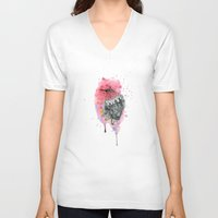 hummingbird V-neck T-shirts featuring Hummingbird by Wood + Ink