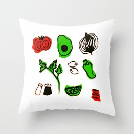 Let's Give Them Something to Guac About Throw Pillow